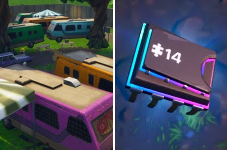 Fortnite Fortbyte 14 Found within a RV Park Location – Season 9 Guide