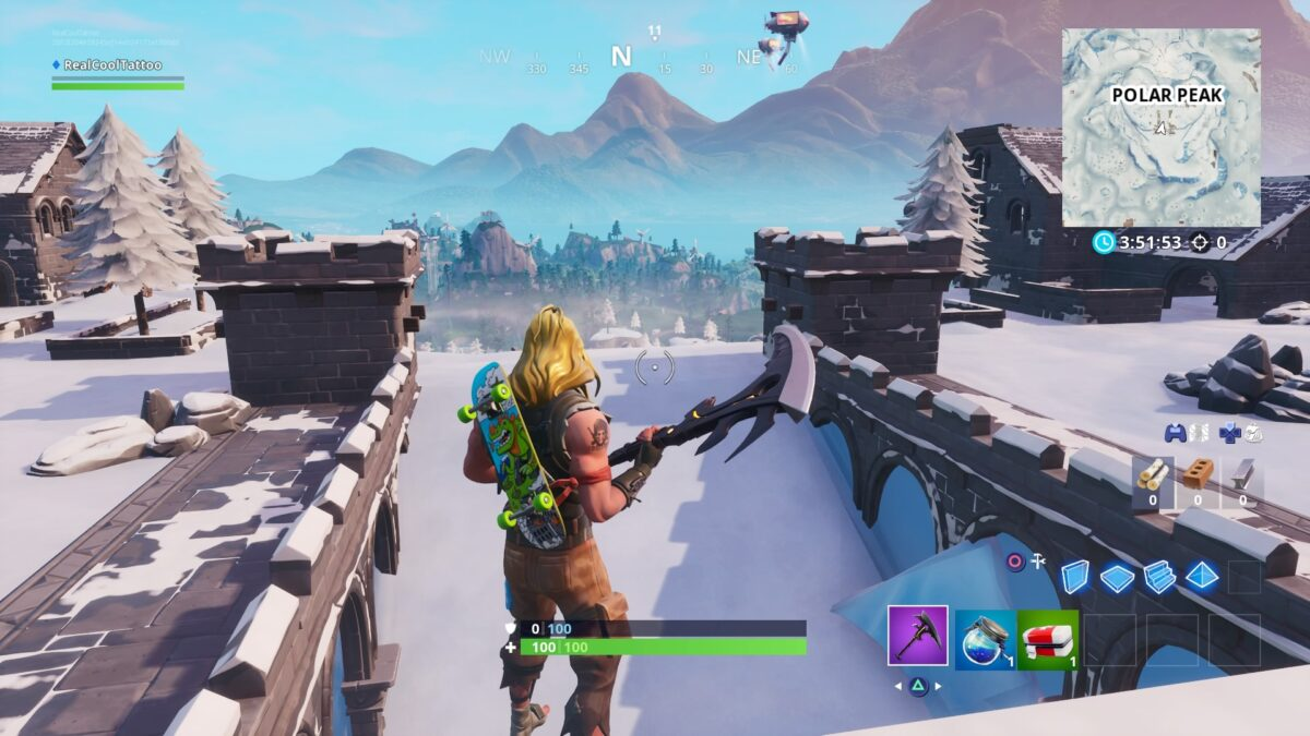Fortnite monster steals Polar Peak castle and swims around with it because why not