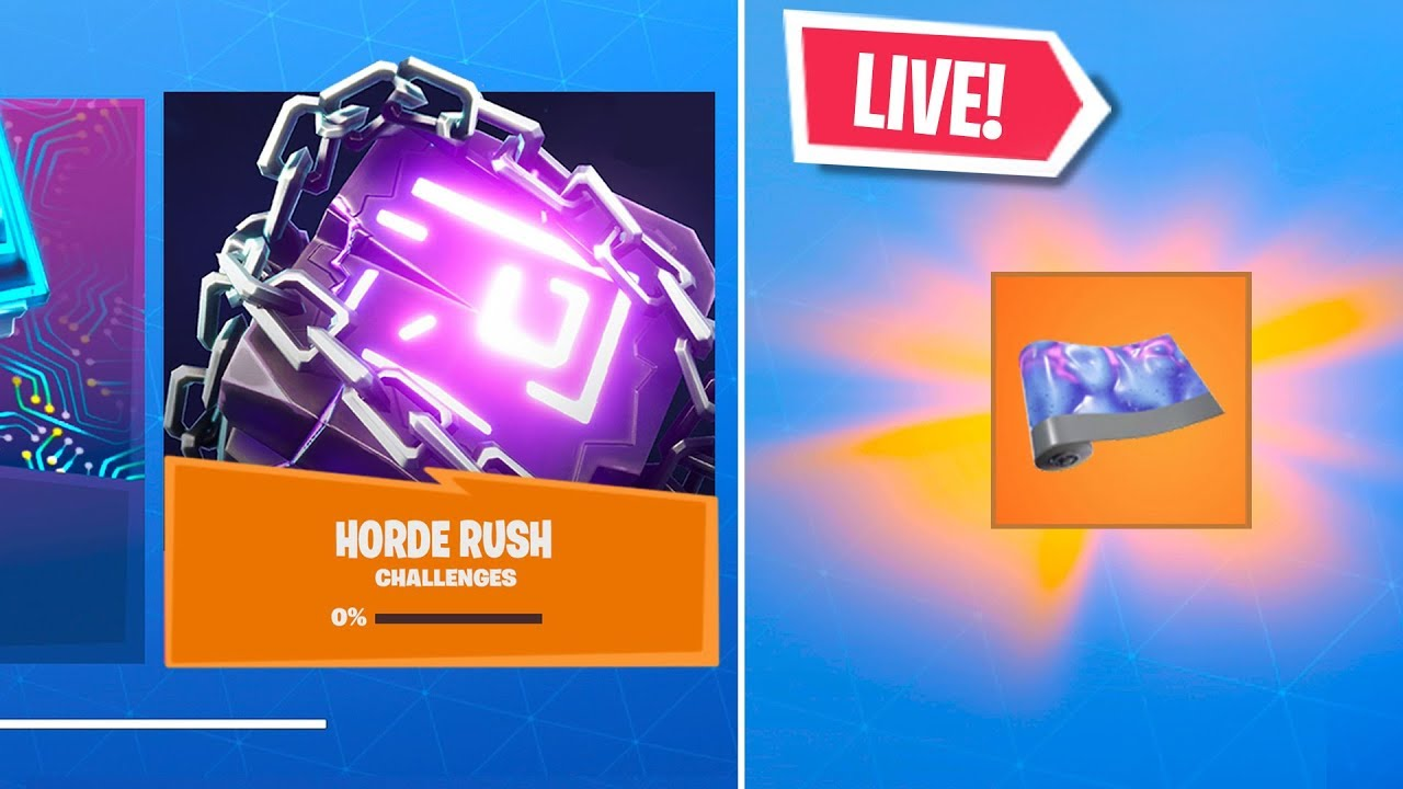 New Fortnite Horde Rush Event Free Rewards Right Now