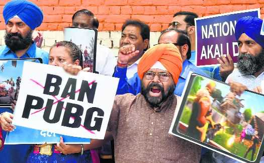 Parents protest to seek ban on PUBG