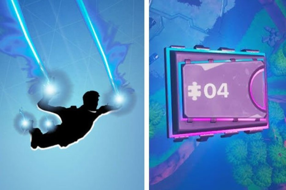 Fortnite Fortbyte 4 Location – Skydiving through rings with Plasma Trail Contrails