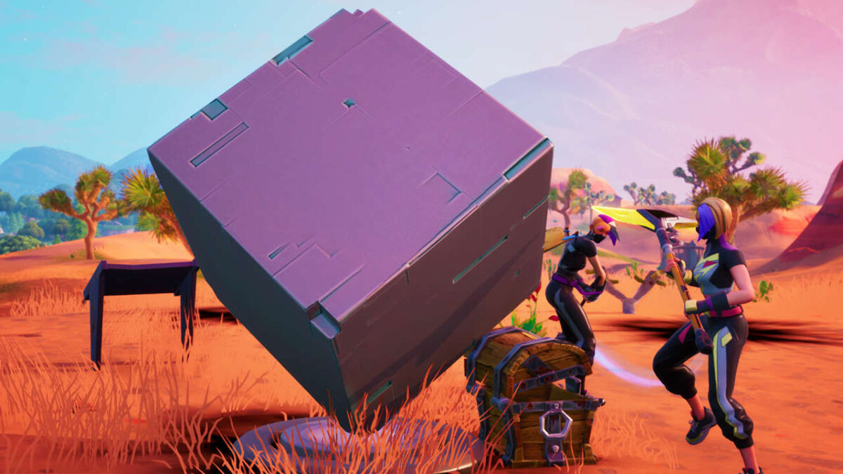 Fortnite Season 10: Visit Cube Memorials Near Desert And Lake Location Guide   Worlds Collide Challenges