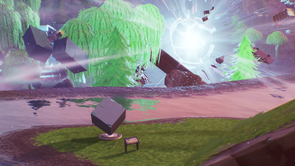 Fortnite: Where to Visit a Memorial to a Cube By A Lake Location
