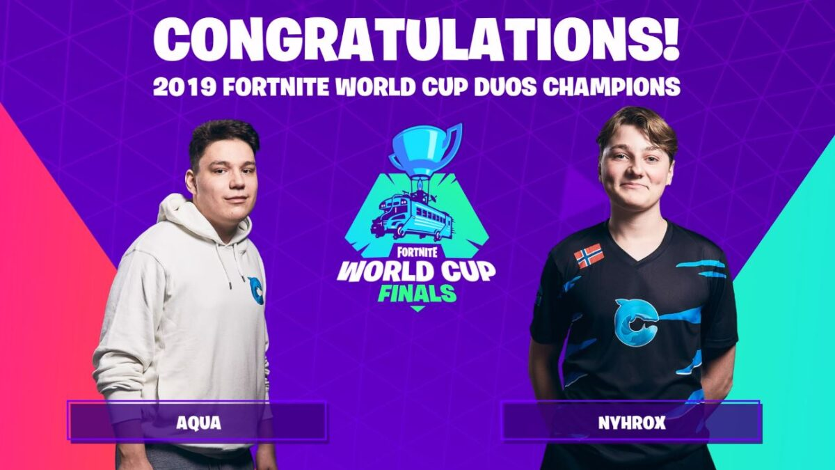 Fortnite World Cup Duo Champion reveals that he's switching teammates