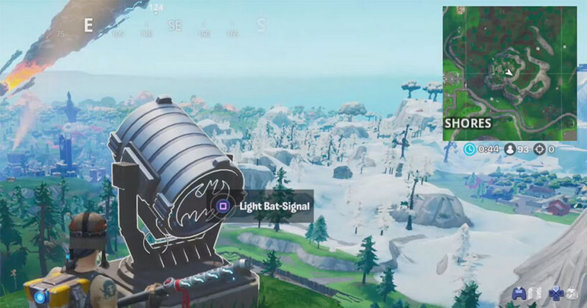 Fortnite Bat Signal Map Locations Where To Light Up