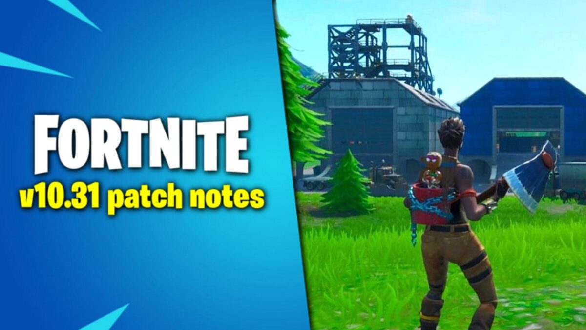 Fortnite v10.31 early patch notes – map changes, editing fixes, Ziplines and more