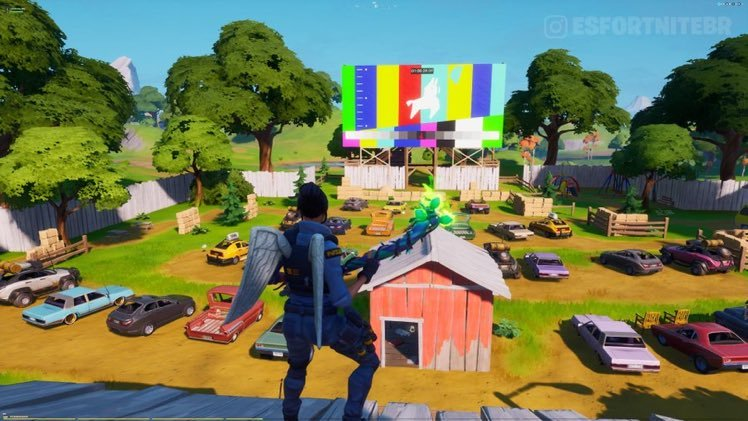 Fortnite: Jumping Llama Showing on Risky Reels Theatre Screen