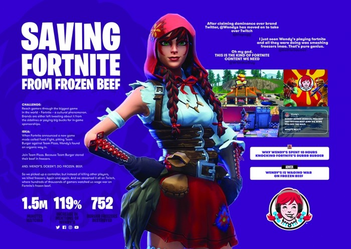 How Wendy's and VMLYR reached the adblock generation by smashing freezers in Fortnite