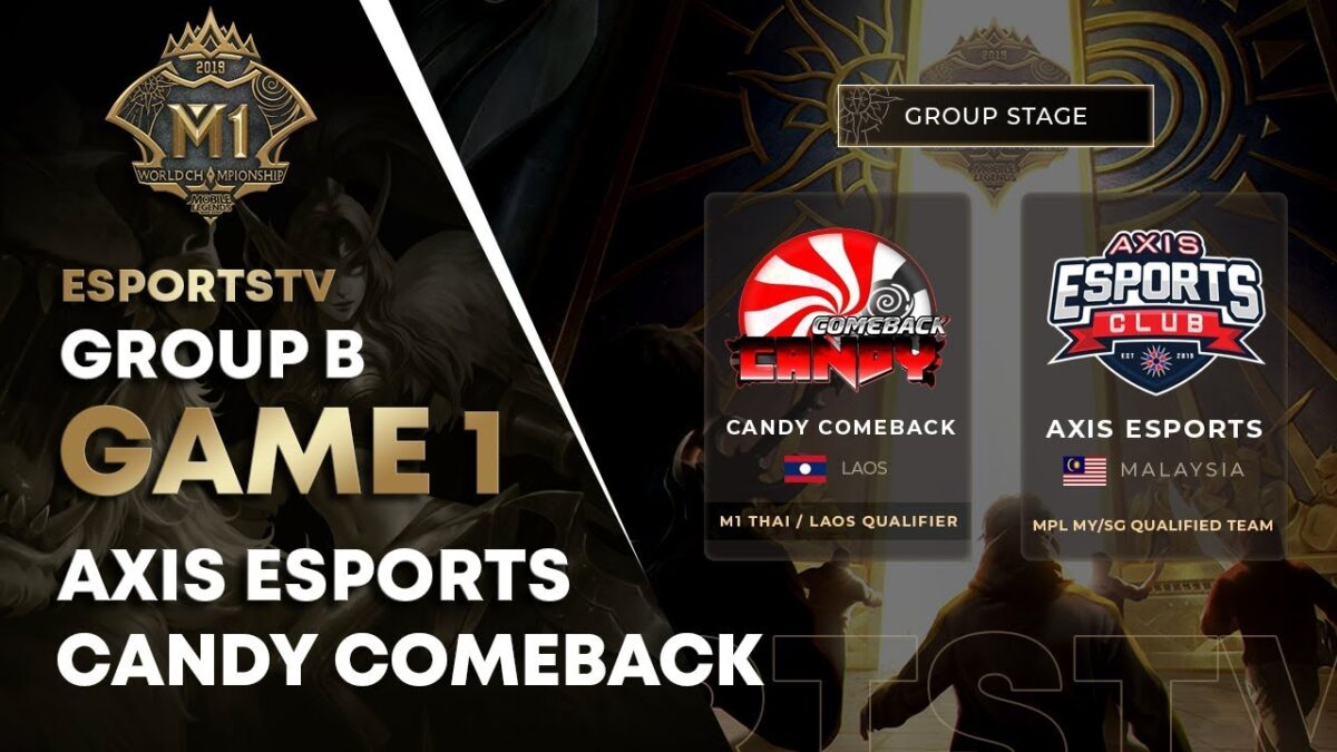 AXIS ESPORTS VS CANDY COMEBACK MLBB World Championship 2019 (GAME 1) | ESPORTSTV