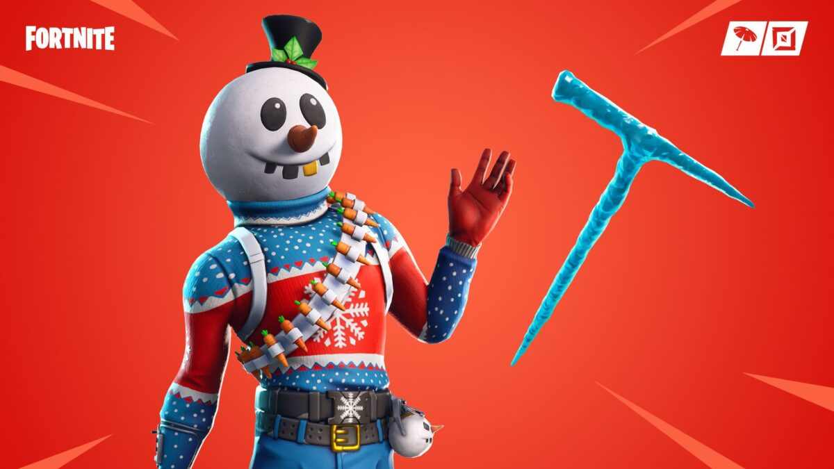 Fortnite 2: Destroy a sneaky snowman with a lightsaber or pickaxe