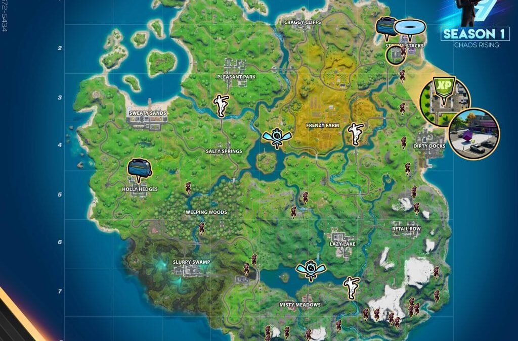 Fortnite Chaos Rising Challenges Cheat Sheet – Steel Bridge, Motorboat Time Trial Locations