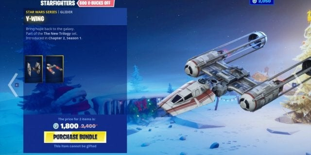 Fortnite's Y-Wing Gliders Have an Interesting Design Omission