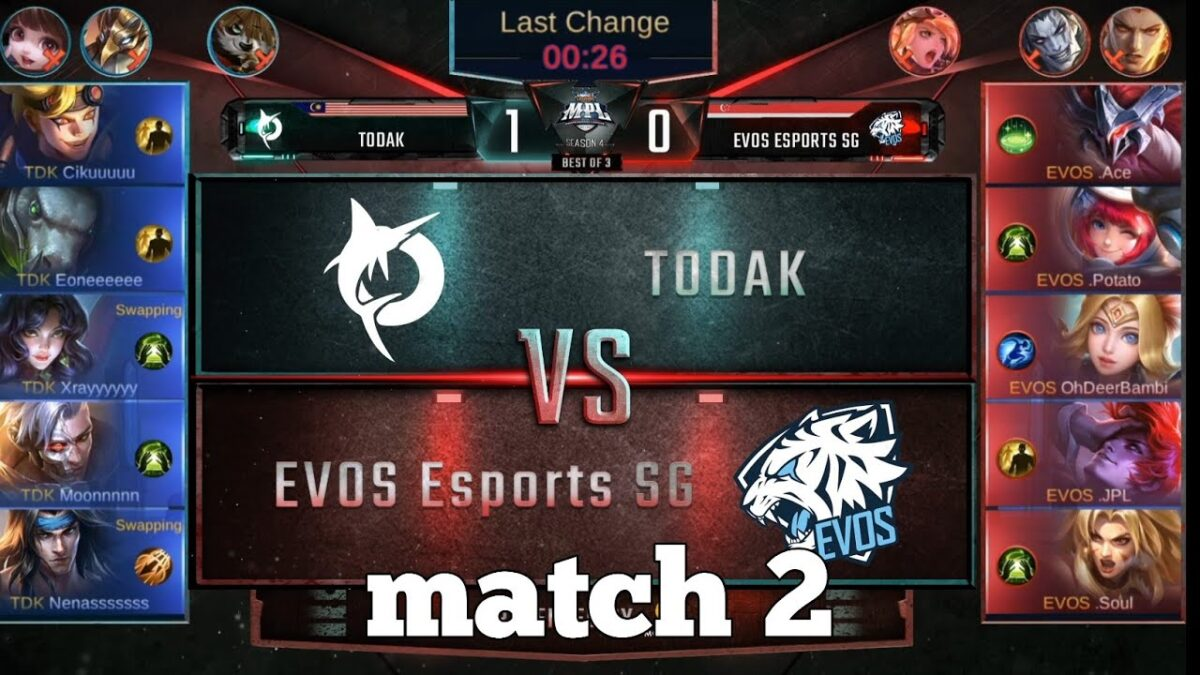 Maniac again? Todak vs Evos Esports SG match 2 | MPL MY/SG Playoffs day 2