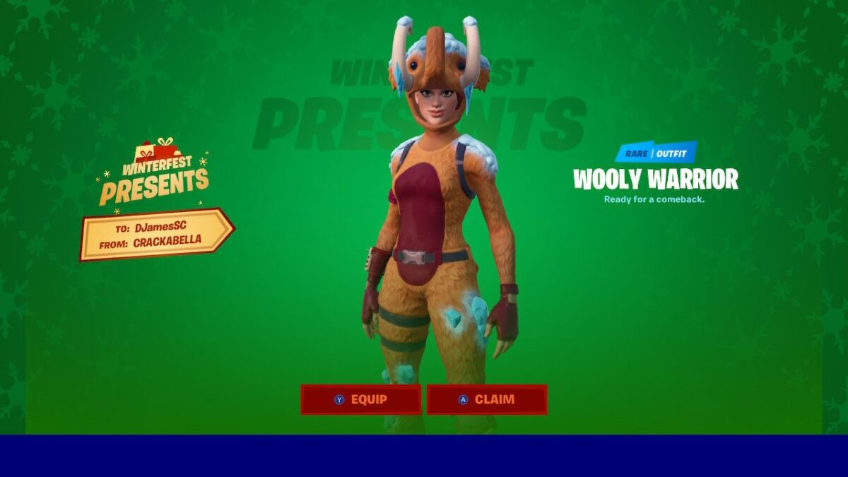 Fortnite – How To Get Rare Winterfest Wooly Warrior Skin