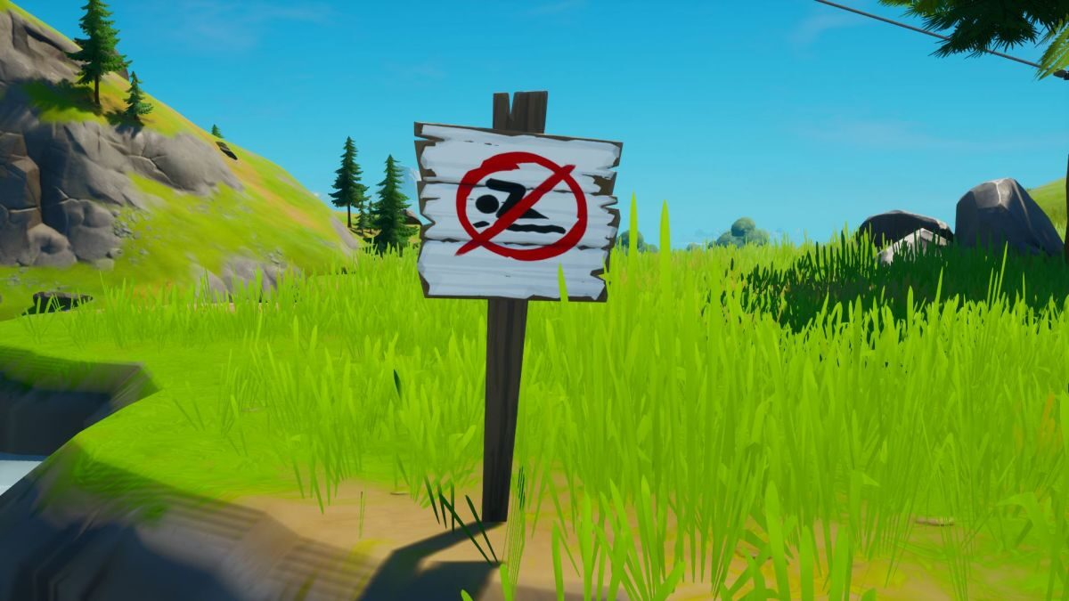 Fortnite no swimming sign locations: where to find no swimming signs in Fortnite