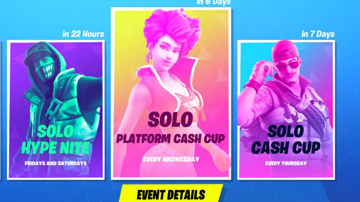 Fortnite releases new Solo Cash Cups for January