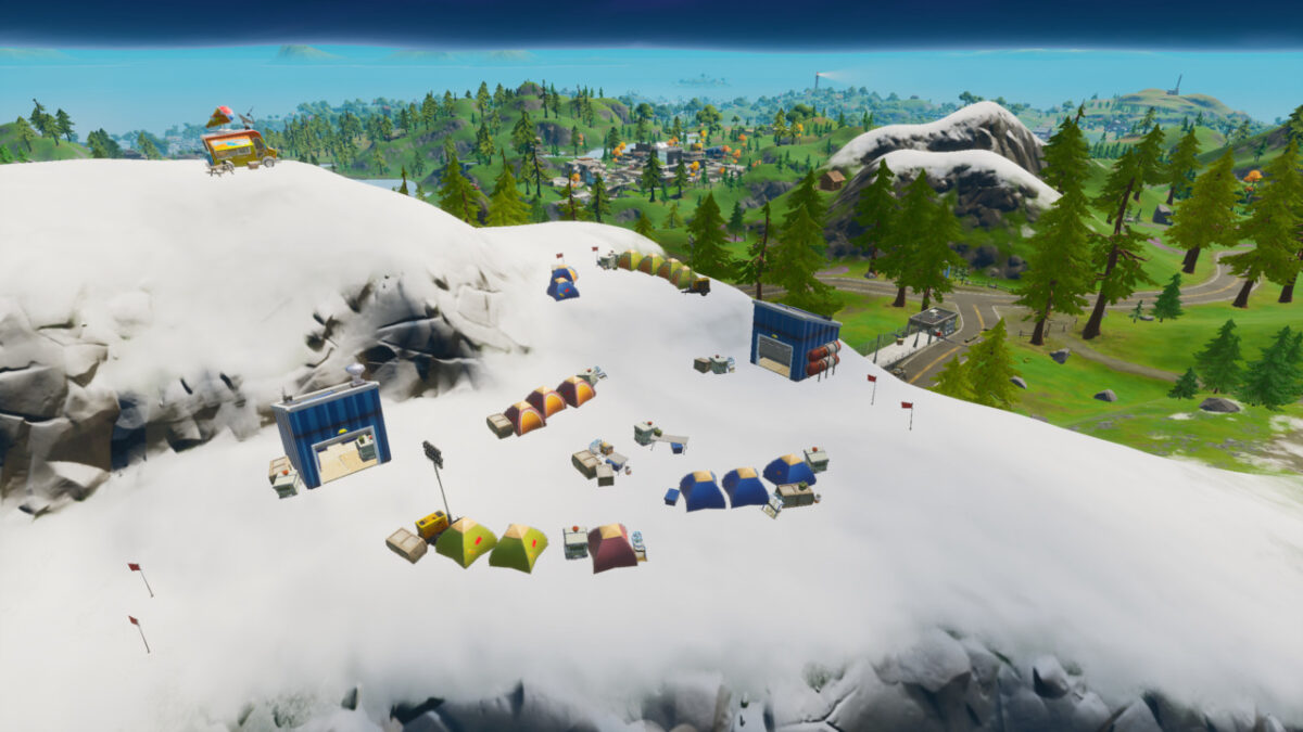 Where to find mountain base camps for Fortnite Overtime challenge