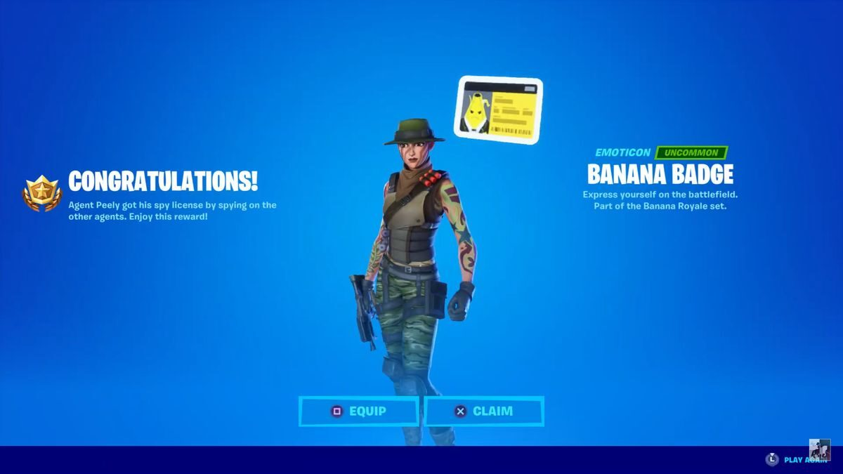 How To Get The Secret Banana Badge In 'Fortnite'