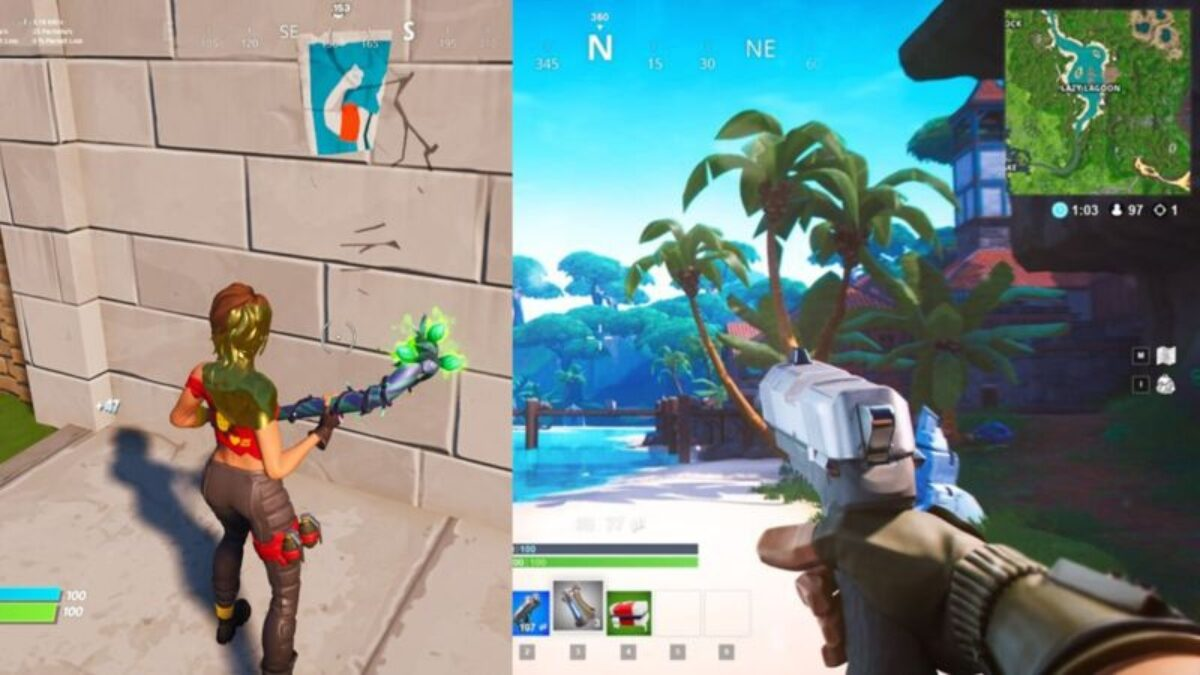 First-Person Mode in Fortnite Discovered After The Game Glitched