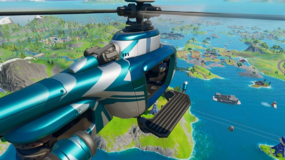 Fortnite: Choppa Helicopters in Arena during Season 3