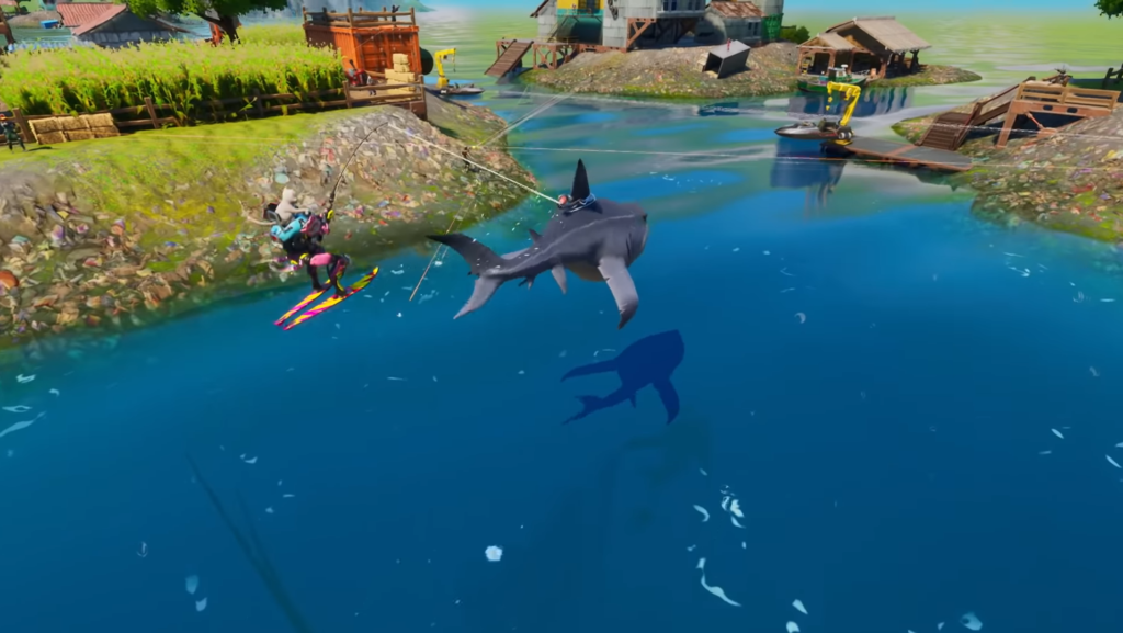 How to Damage Loot Sharks at Sweaty Sands in Fortnite