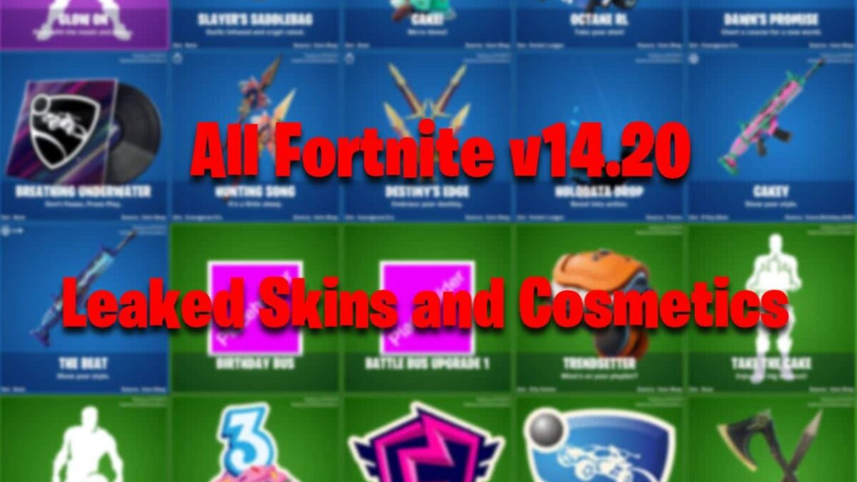 All Fortnite Leaked Skins & Cosmetics Found in v14.20