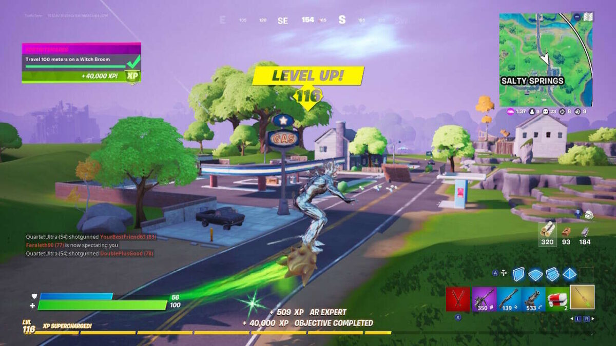 Fortnite Witch Broom Guide: How To Travel 100 Meters