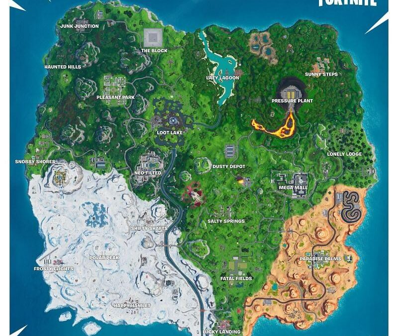 Most loved map locations in the history of Fortnite