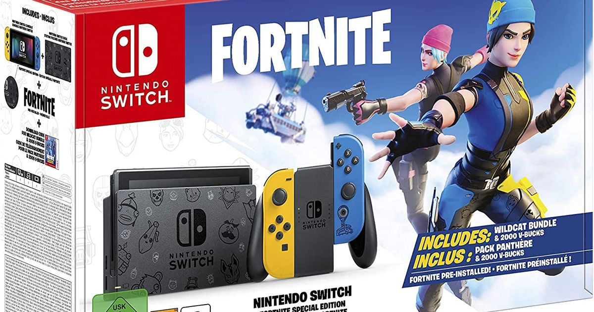 Nintendo are releasing a special Fortnite Edition Switch console