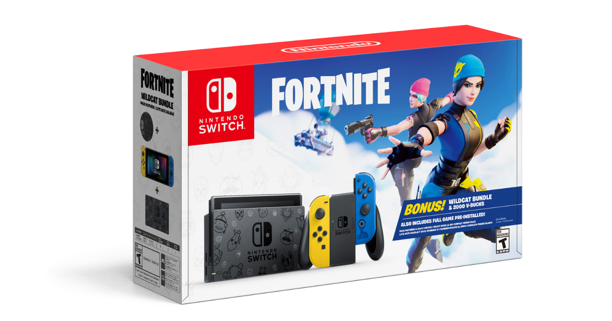 Grab the Fortnite-themed Nintendo Switch bundle while it's in stock