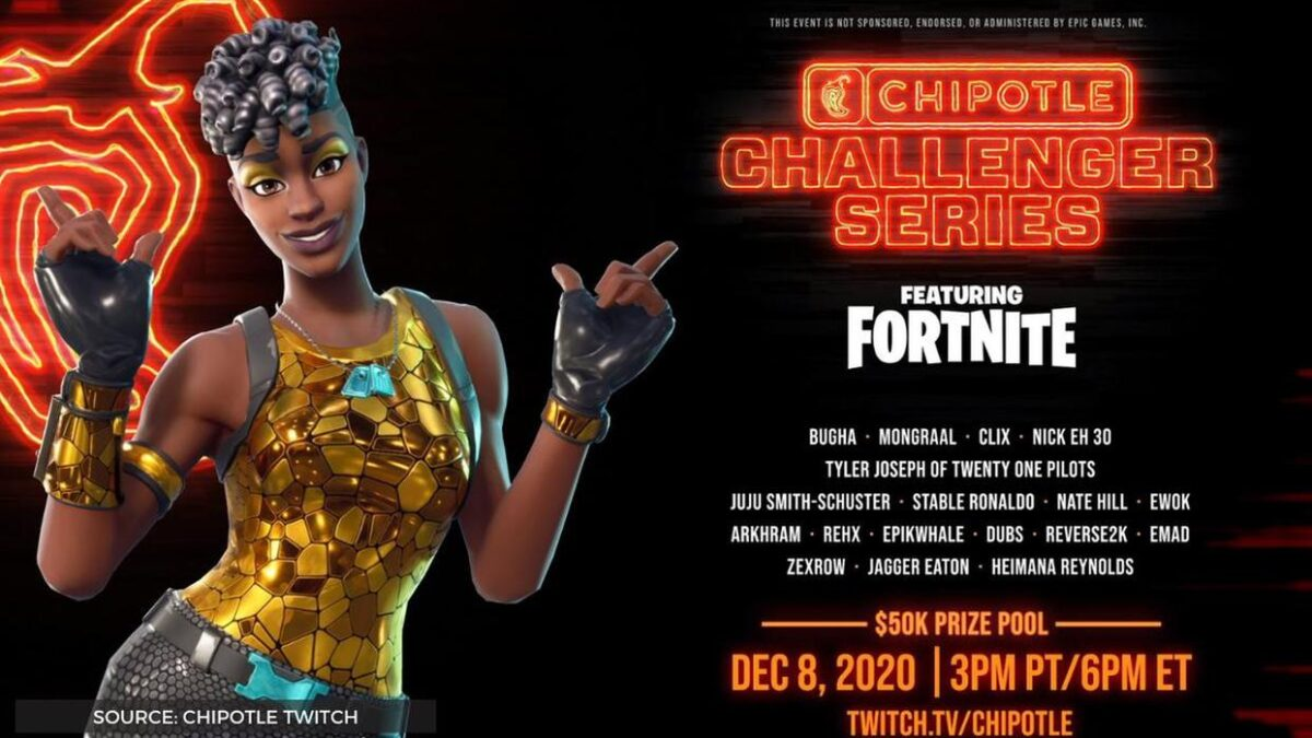 Fortnite Chipotle Challenger Series live stream, schedule, format and prize pool