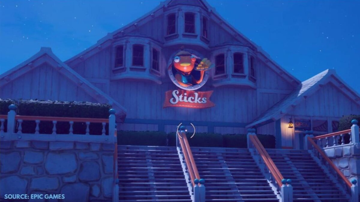Where is Sticks Restaurant in Fortnite Season 5? How to complete challenge?